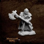 Undead Dwarf Fighter - Miniatura RPG