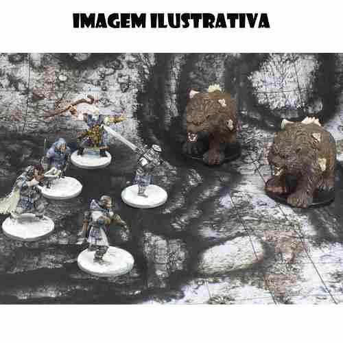Acampamento do Refúgio 50x50 - RPG Battle Grid D&D  - Mercado RPG