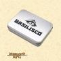 Caixa de Metal Porta Dados de RPG - Basilisco Dados - Mercado RPG