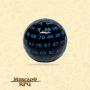Dado de RPG - D100 Black Opaque Dice Blue Font - Cem Lados - Mercado RPG
