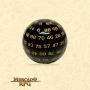 Dado de RPG - D100 Black Opaque Dice Yellow Font - Cem Lados - Mercado RPG
