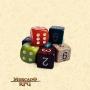 Dado de RPG - D6 Padrão Numérico Cor Aleatória - Seis Lados - Mercado RPG