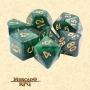 Dados de RPG - Conjunto com 7 Dados Aurora - Dark Forest Aurora Dice - Mercado RPG