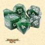Dados de RPG - Conjunto com 7 Dados Aurora - Dark Forest Aurora Dice Silver Font - Mercado RPG