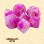 Dados de RPG - Conjunto com 7 Dados Aurora - First Love Aurora Dice - Mercado RPG