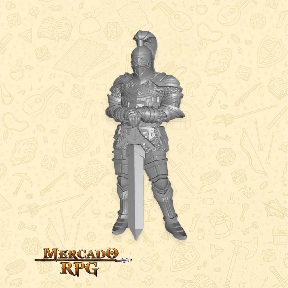 Aaron Knight - Miniatura - RPG