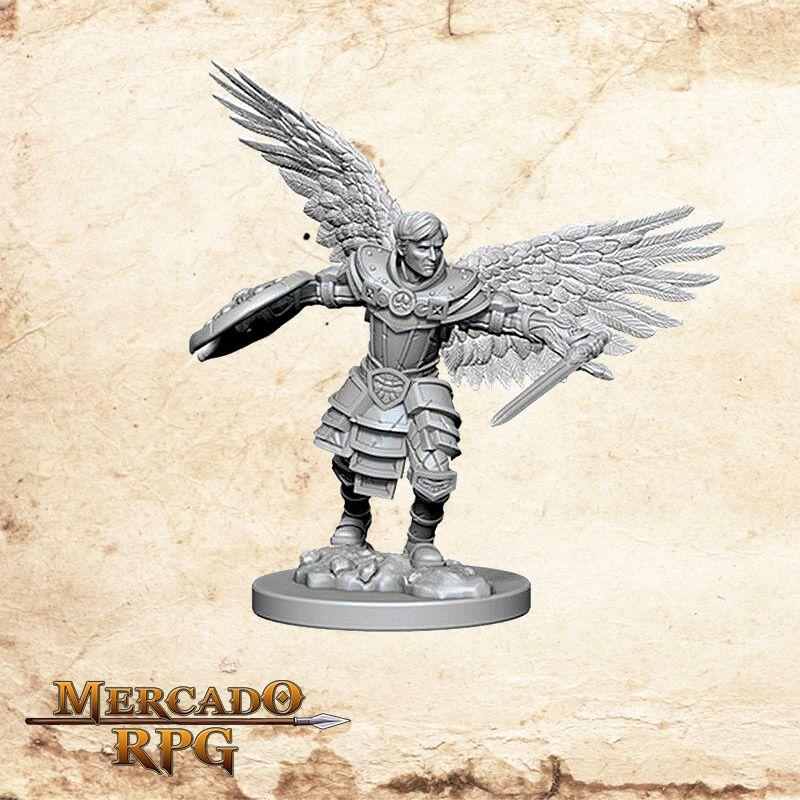 Aasimar Male Fighter A - Miniatura RPG  - Mercado RPG