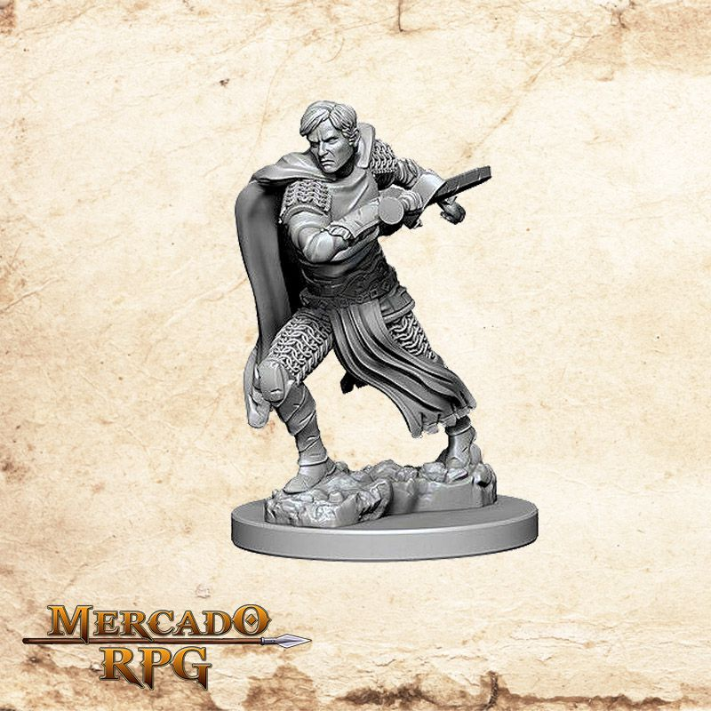 Aasimar Male Fighter B - Miniatura RPG  - Mercado RPG