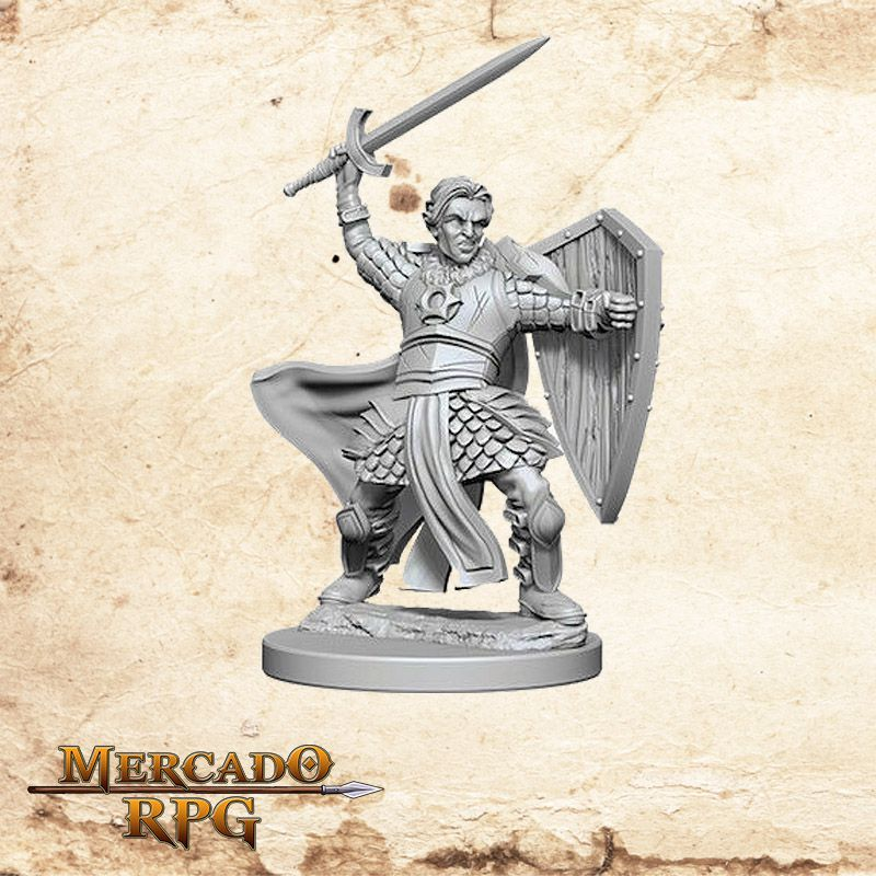 Aasimar Male Paladin A - Miniatura RPG  - Mercado RPG