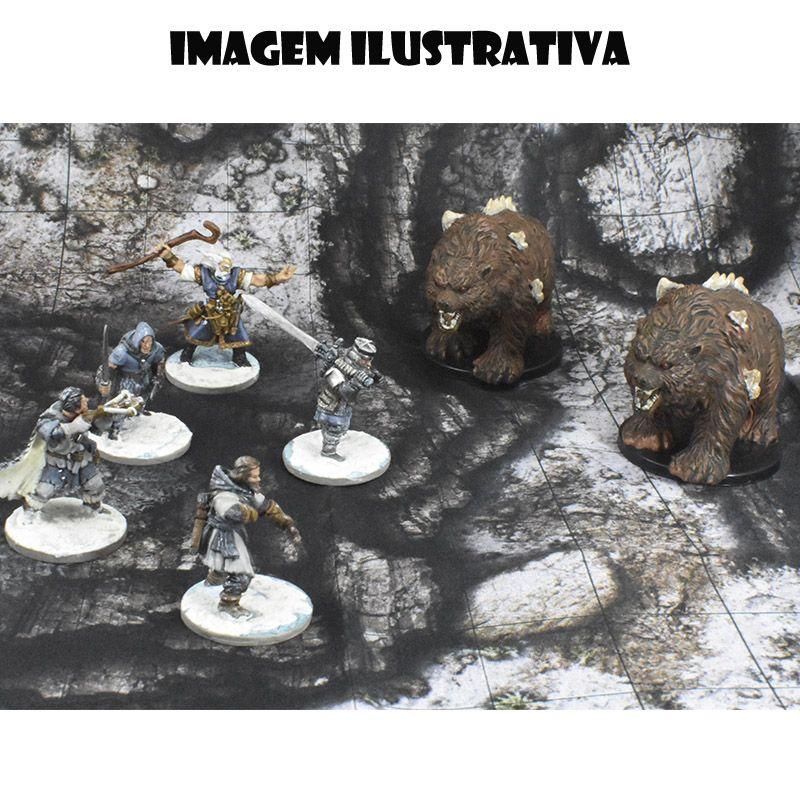 Acampamento na Fenda Gélida 25x30 - RPG Battle Grid D&D  - Mercado RPG