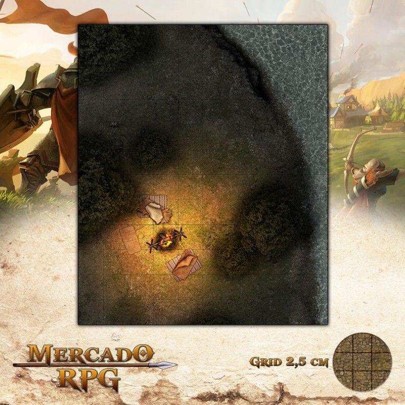 Acampamento no rio  - Mercado RPG