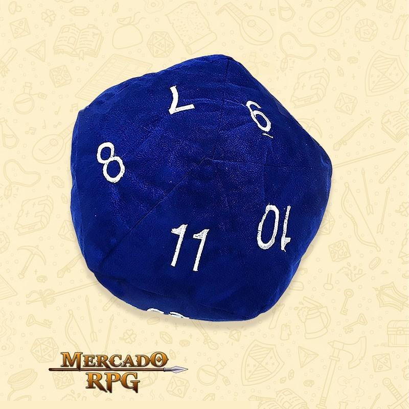 Almofada D20 - Azul D&D - RPG