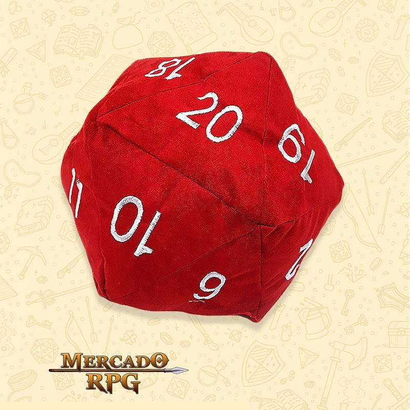 Almofada D20 - Vermelha D&D - RPG