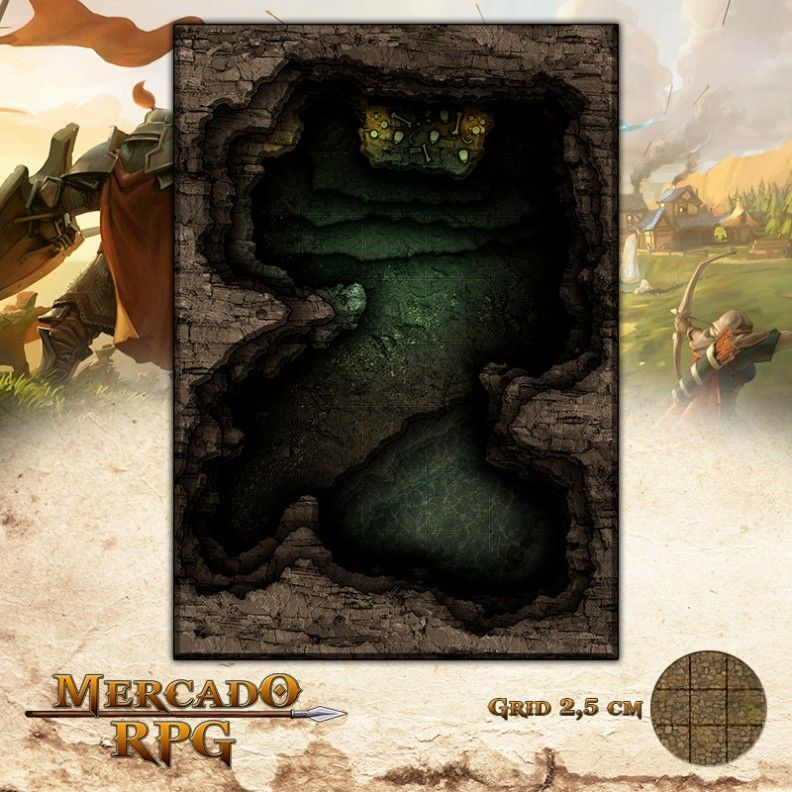 Altar do Sacrifício 25x17 Grid de Batalha - RPG Battle Grid D&D