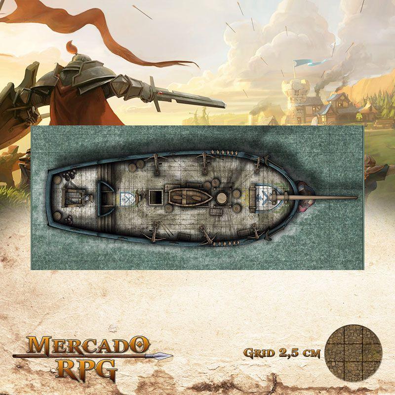 Alvorada Externa 20x50 Grid de Batalha - RPG Battle Grid D&D