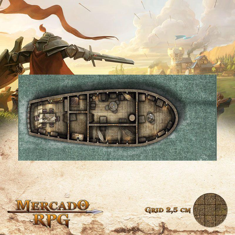 Alvorada Interno 20x50 Grid de Batalha - RPG Battle Grid D&D