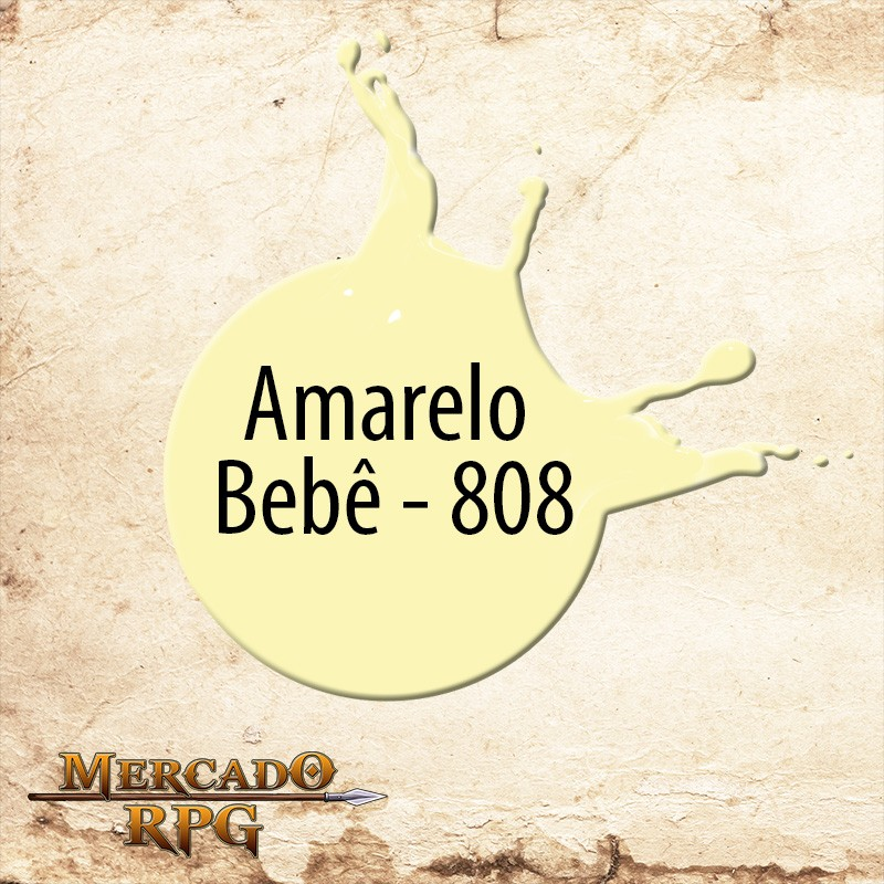 Amarelo Bebê - 808  - Mercado RPG