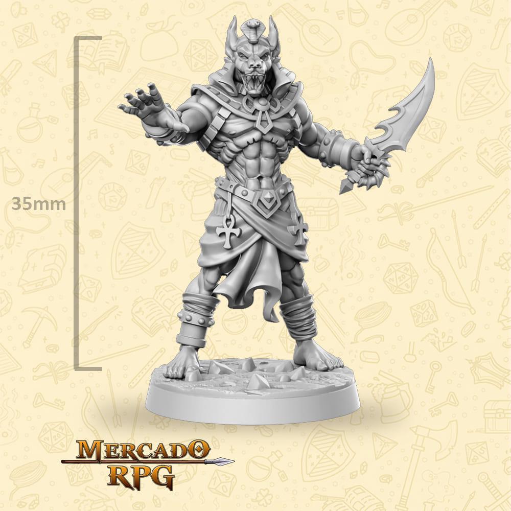 Anubti Warrior Single Dagger - Miniatura - RPG