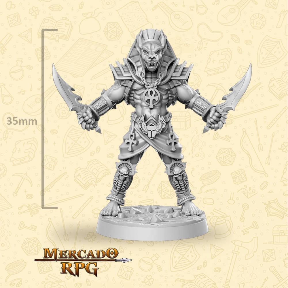 Anubti Warrior Two Daggers - Miniatura - RPG