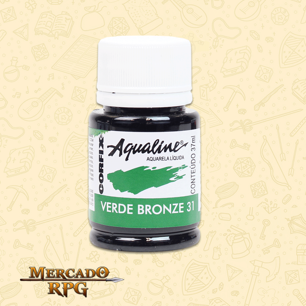 Aqualine - Verde Bronze 37ml Aquarela Líquida - Corfix - RPG