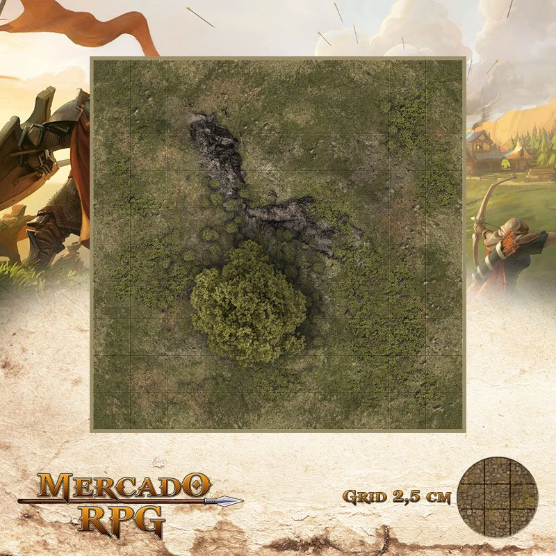 Area Selvagem A 25x25 - RPG Battle Grid D&D