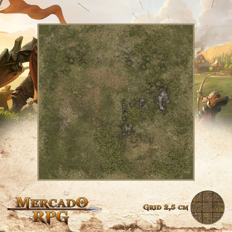 Area Selvagem D 25x25 - RPG Battle Grid D&D  - Mercado RPG