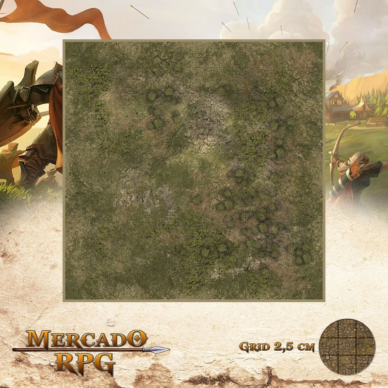 Area Selvagem E 25x25 - RPG Battle Grid D&D  - Mercado RPG