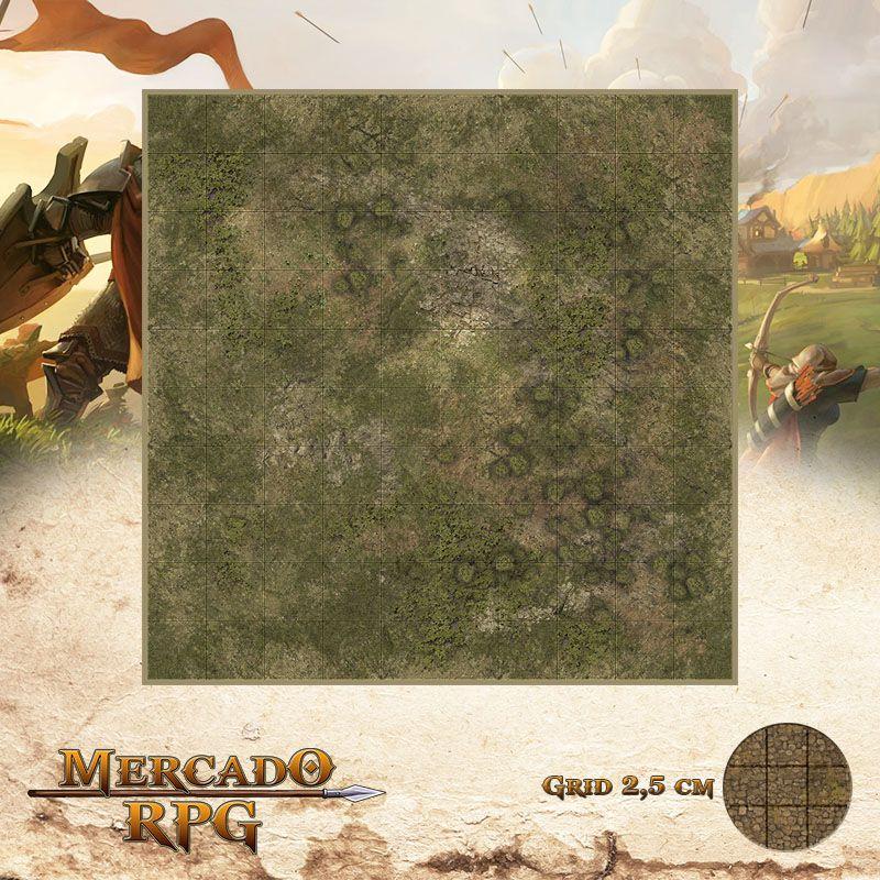 Area Selvagem E 25x25 Grid de Batalha - RPG Battle Grid D&D
