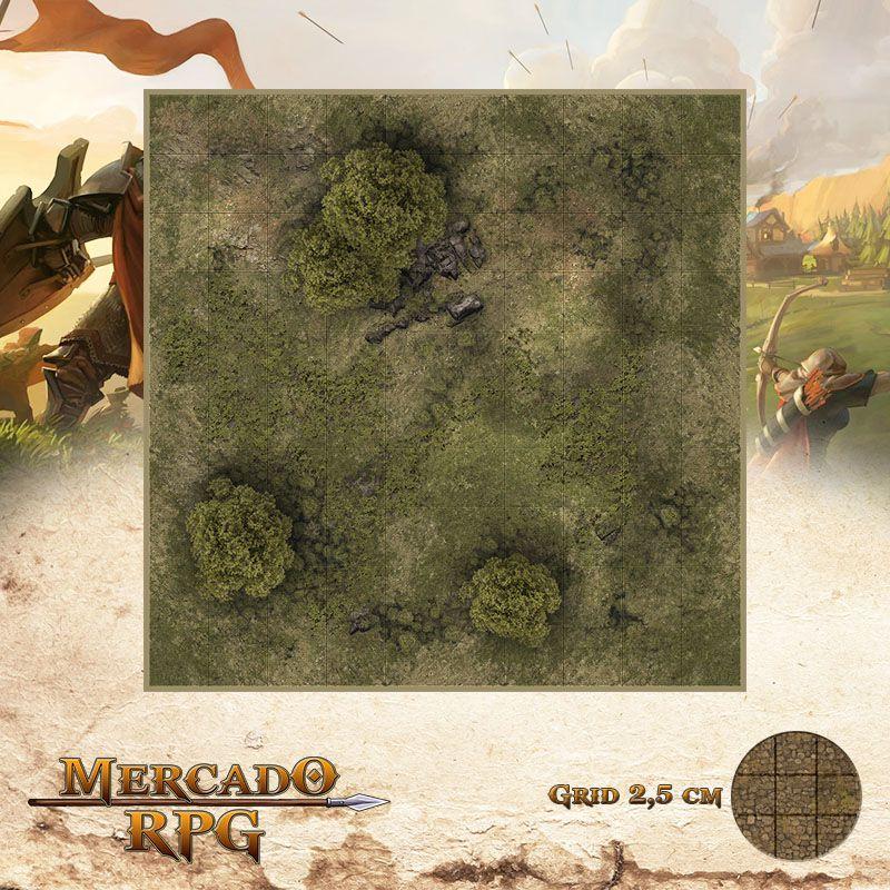 Area Selvagem F 25x25 Grid de Batalha - RPG Battle Grid D&D
