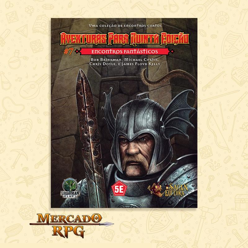 Aventuras para Quinta Edição - Encontros Fantásticos - RPG  - Mercado RPG
