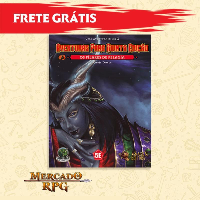 Aventuras para Quinta Edição - Nível 3 - Os Pilares de Pelagia - RPG