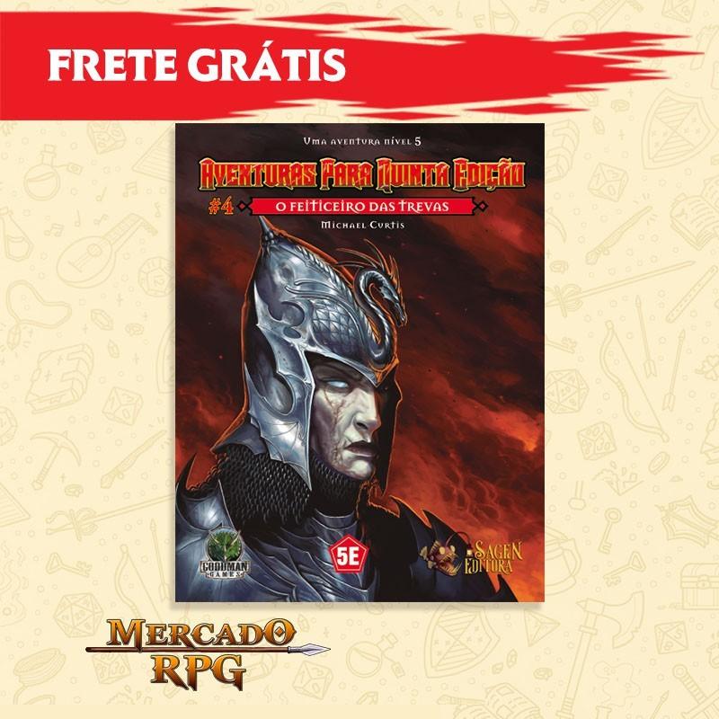 Aventuras para Quinta Edição - 5e D&D - O Feiticeiro das Trevas - RPG