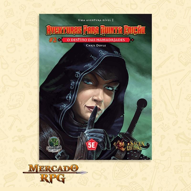 Aventuras para Quinta Edição - Nível 1 - O Destino das Hamadríades - RPG  - Mercado RPG