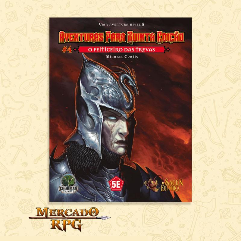 Aventuras para Quinta Edição - Nível 5 - O Feiticeiro das Trevas - RPG  - Mercado RPG