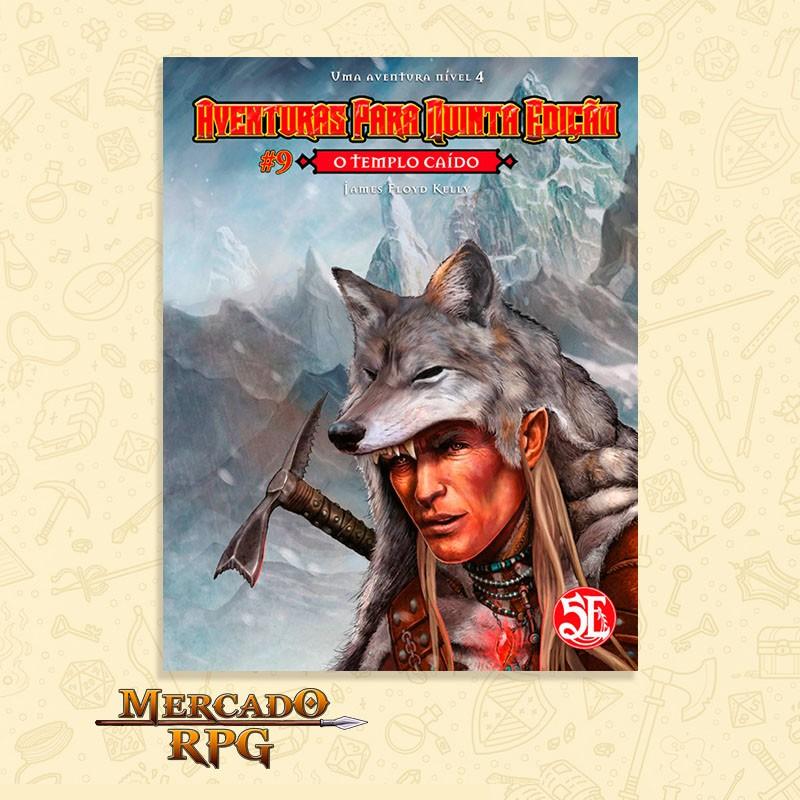 Aventuras para Quinta Edição - Nível 4 - O Templo Caído - RPG  - Mercado RPG
