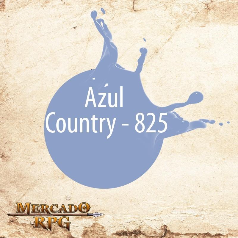 Azul Country 825 - Tinta Acrílica Fosca Nature Colors 60ml - Acrilex - RPG