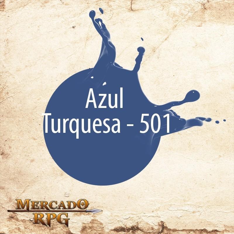 Azul Turquesa 501 - Tinta Acrílica Fosca Nature Colors 60ml - Acrilex - RPG
