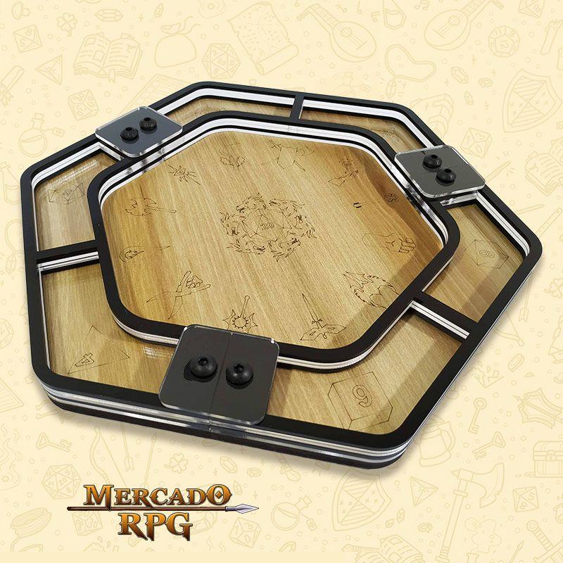 Bandeja de Dados Acrílico Hexagonal D&D - RPG