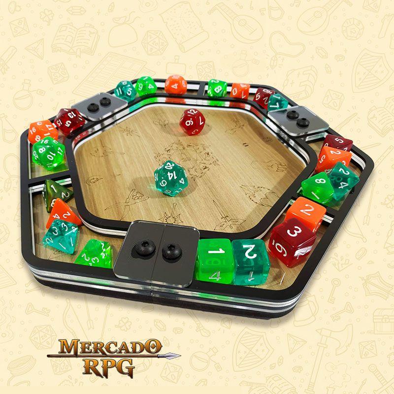 Bandeja de Dados Acrílico Hexagonal - RPG  - Mercado RPG