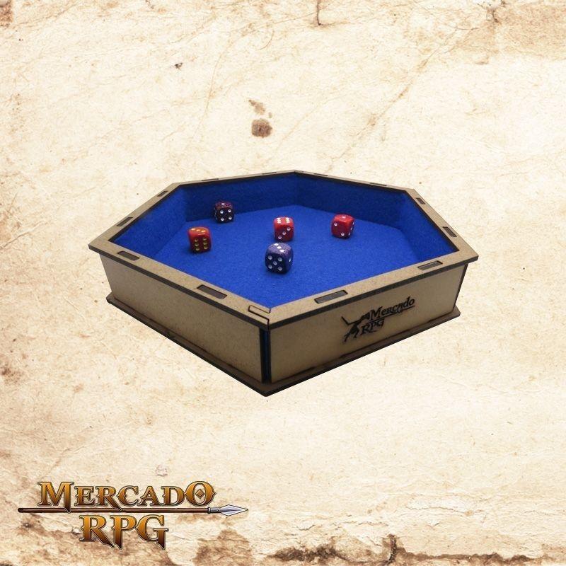 Bandeja de dados (Azul)  - Mercado RPG