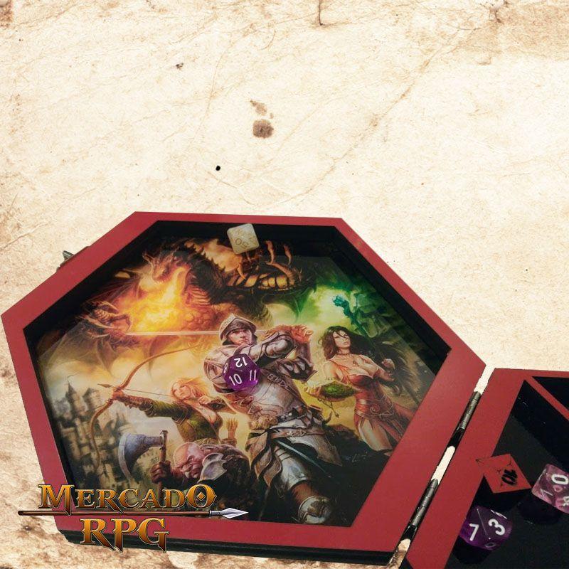 Bandeja de Dados Caixa Hexagonal  - Mercado RPG