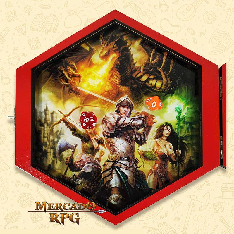 Bandeja de Dados Caixa Hexagonal - RPG  - Mercado RPG