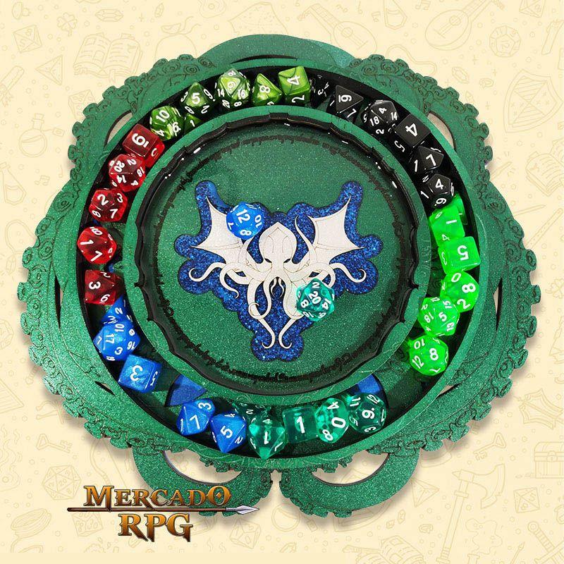 Bandeja de Dados Cthulhu - RPG  - Mercado RPG