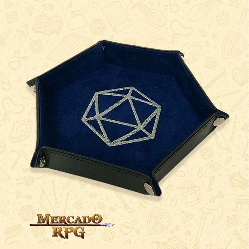 Bandeja de Dados D20 - Azul - RPG