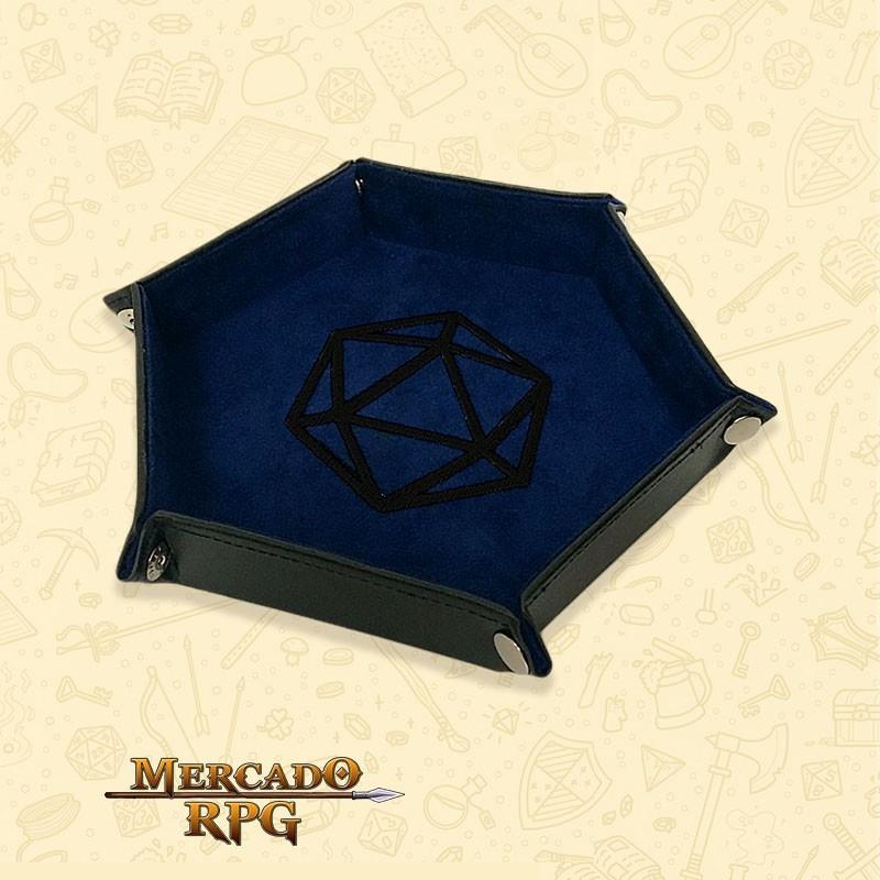 Bandeja de Dados D20 - Azul D&D - RPG