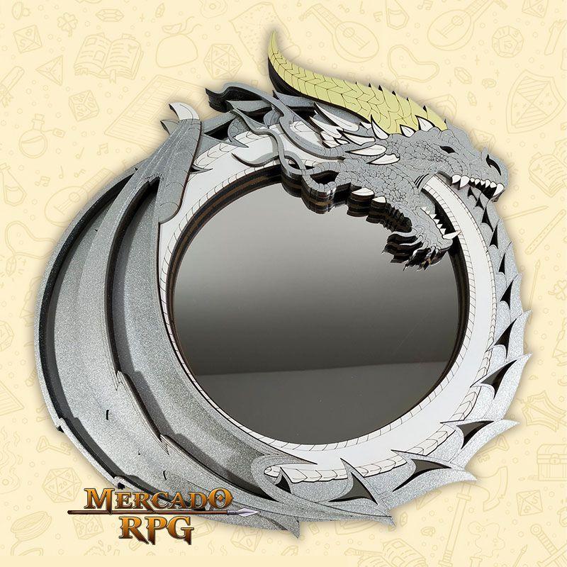 Bandeja de Dados Dragão Prata - RPG  - Mercado RPG