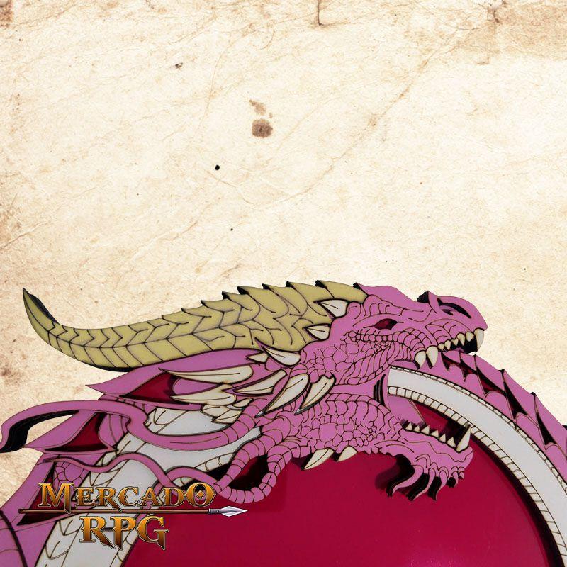 Bandeja de Dados Dragão Rosa  - Mercado RPG