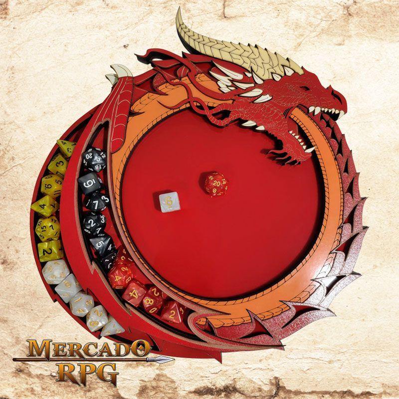 Bandeja de Dados Dragão Vermelho