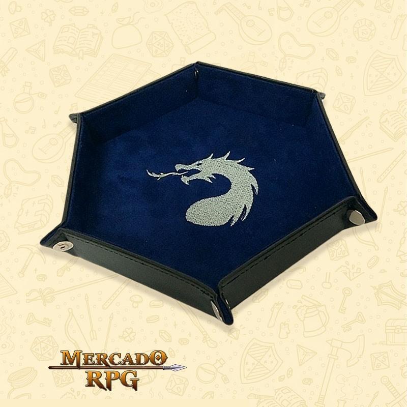 Bandeja de Dados Dragon - Azul D&D - RPG