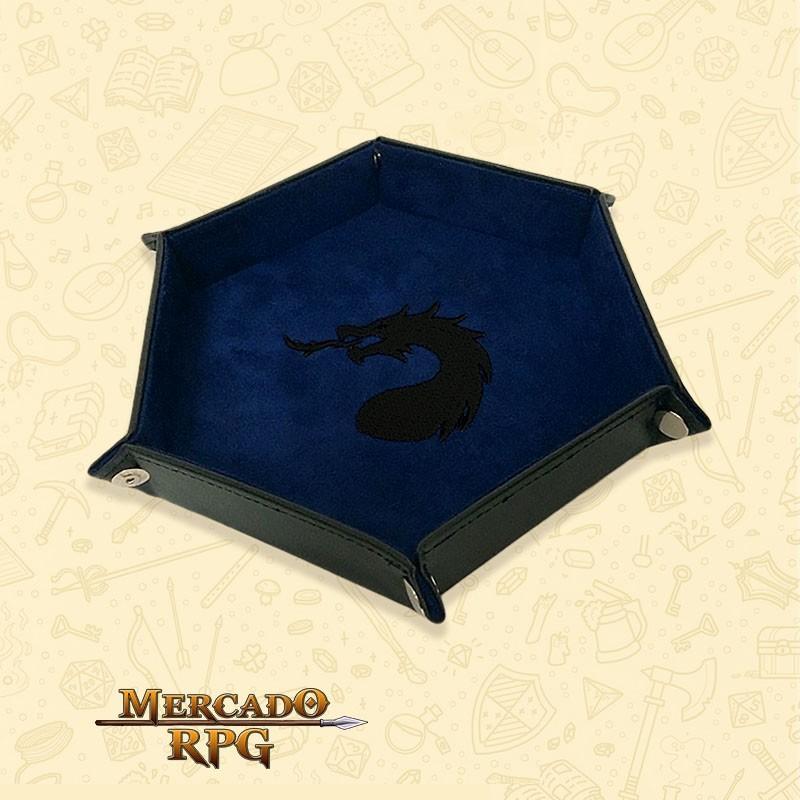 Bandeja de Dados Dragon - Azul - RPG